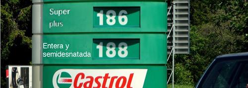 Precio de la gasolina y de laleche