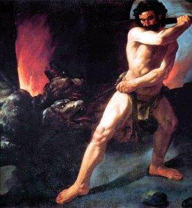 Hércules atacando al Cerbero