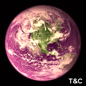Este podría ser el aspecto de la Tierra bajo el dominio de las bacterias púrpuras.